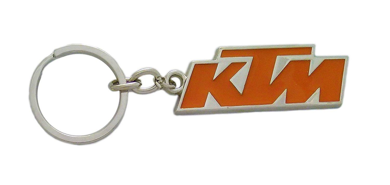 Gct ktm duke bike logo metal keychain for car bike men women keyring orange silver amazon in bags wallets luggage