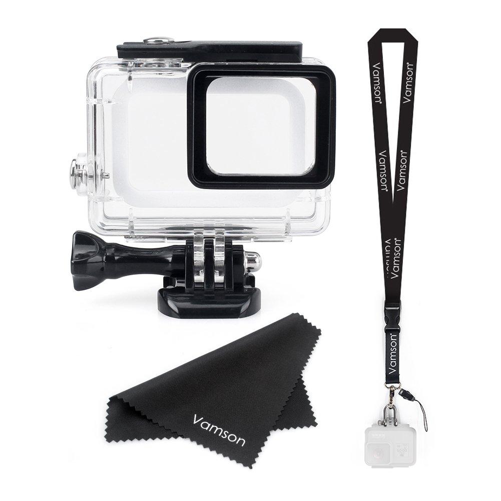 vamson防水ハウジングケースfor GoPro Hero (2018 )/6 /5ブラック防水ケースダイビング保護ハウジングシェル45 M Go Pro hero6 hero5カメラアクションカメラ   B07DGTBT5L