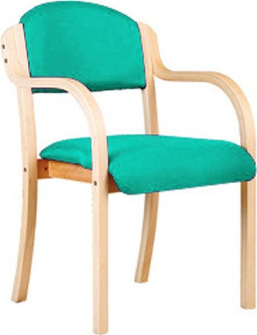 Eliza Tinsley Wooden Framed Stackable Side Armchair Aqua 2050/A/BE/AQ