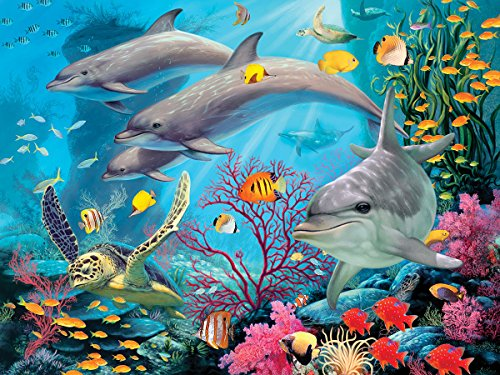 Masterpieces Sea Serenity Hidden Image Glow Jigsaw Puzzle (500-Piece)