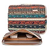 Kayond Canvas Water-Resistant 15.6 Inch Laptop Sleeve case for 15 inch 15.4 inch 15.6 inch Notebook Computer (15-15.6 inch, Red Bohemia)