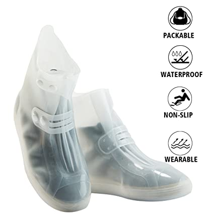 b2f5a7b2a590 Shoes Cover - Waterproof Reusable Boots Cover Foldable Non-slip Rainstorm  Rainy Day Rain Snow