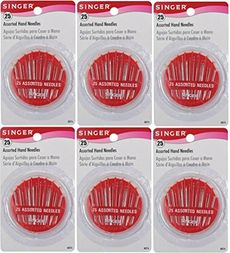 UPC 085275508451, Singer Assorted Hand Needles in Compact, 25-count (Pack of 6)