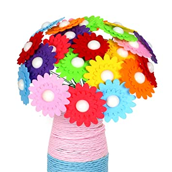 Amazon Com Dedy Crafts For Girls Age 4 12 Diy Button Bouquet For