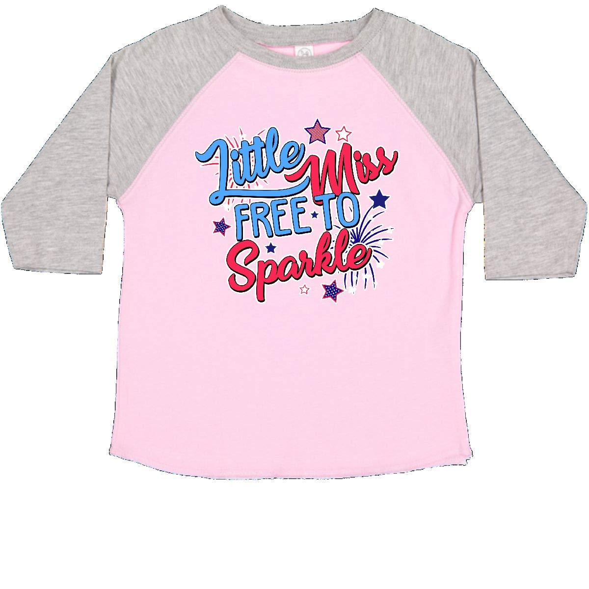 inktastic Little Miss Free to Sparkle with Stars and Fireworks Toddler T-Shirt