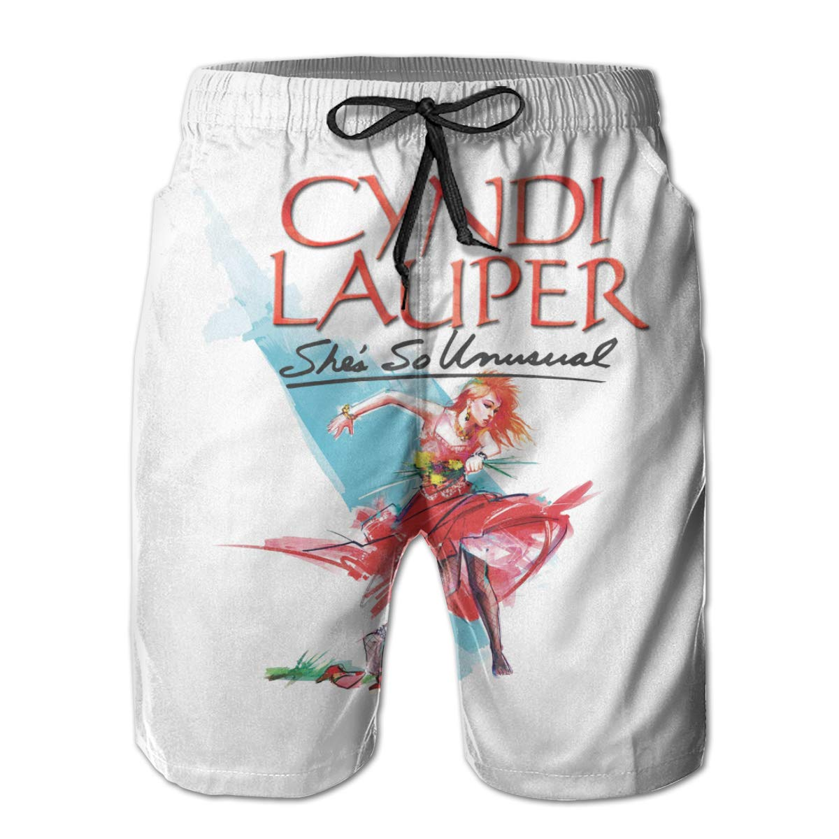 Outdoor Short Pants Beach Accessories Kurabam Beach Volleyball Shorts Cyndi Lauper Athletic Gym Shorts for Men Boys