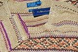 Polo Ralph Lauren Mens Indian Hand Knit Sweater Linen Silk Wool Khaki Brown