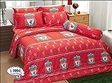 LFC Liverpool Fc Football Club Soccer Team Official Licensed Bedding Set, Fitted Bed Sheet, Pillow Case, Bolster Case, Comforter LI004 Set B+1 (Queen 60''x78'')