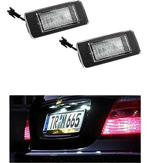 031906OPL 2x Neu LED SMD Kennzeichenbeleuchtung Nummernschildbeleuchtung Wei/ß