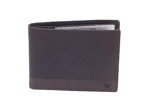 7cfaab3195 Roncato portafoglio uomo, Bravo 411952-44, portafoglio orizzontale  multiscomparto in pelle, colore testa di moro: Amazon.it: Scarpe e borse
