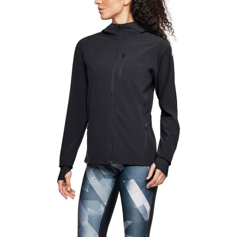 Under Armour Women's Outrun The Storm Jacket, Black/Reflective, Medium