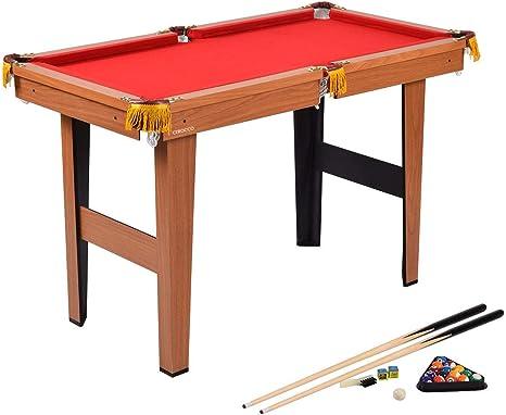 47 pulgadas plegable Snooker mesa de billar mesa de billar con bolas billar tiza trípode &