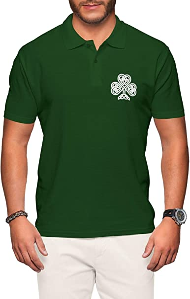 Ireland Rugby Polo Shirt - Irish Jersey Short Sleeve Top Green Embroidered Badge - for Mens s Polo t Shirts Sleeve Shirt