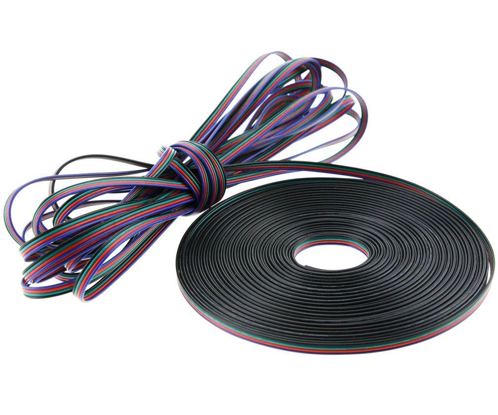 20m Länge 5050 3528 LED RGB Kabel 4-Adrig Strip Anschlußkabel ...