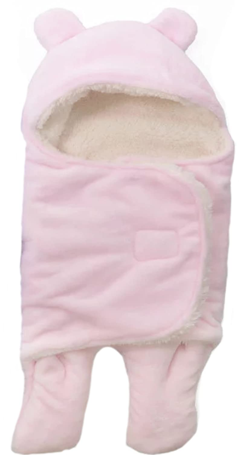 BRANDONN 3 in 1 Baby Boy's and Baby Girl's Baby Blanket, Pink
