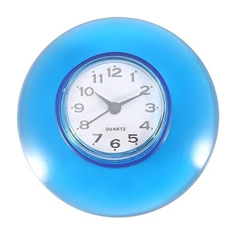 Horloge de Salle de Bain avec Ventouses – Pendule Murale pour Douche à  Accrocher, Étanche(Bleu)