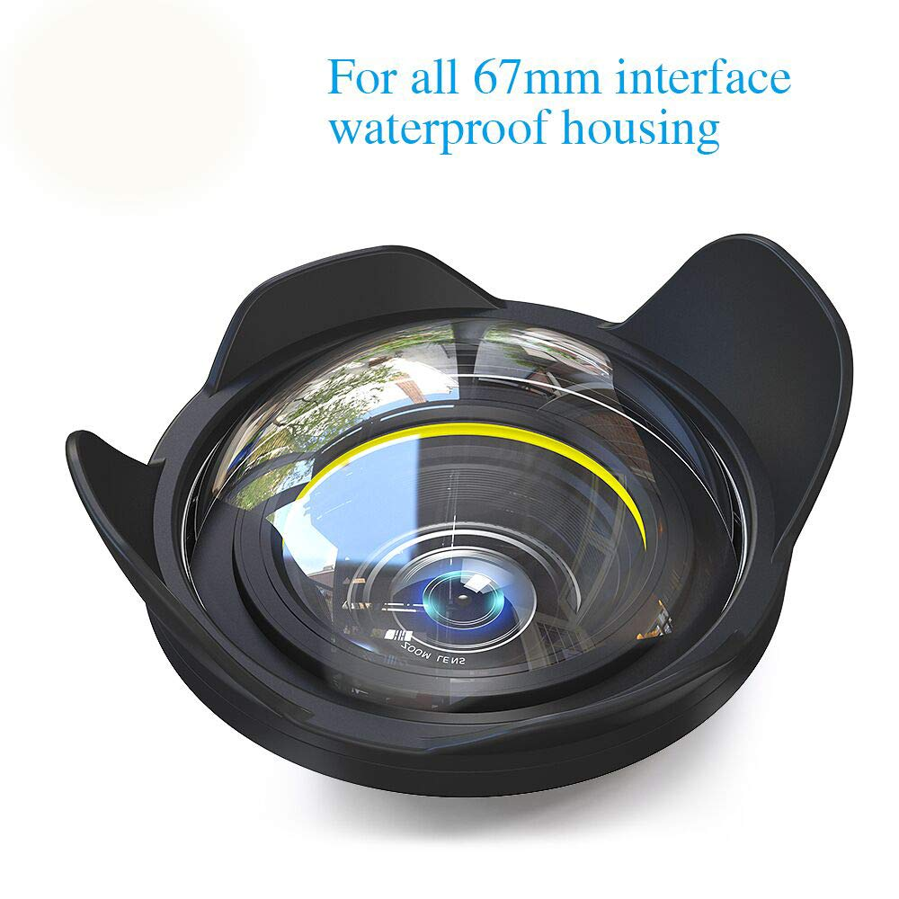 Sea frogs Big Wide Angle Wet Correctional Dome Port Lens for Underwater Housings (67mm Round Adapter) by Sea frogs