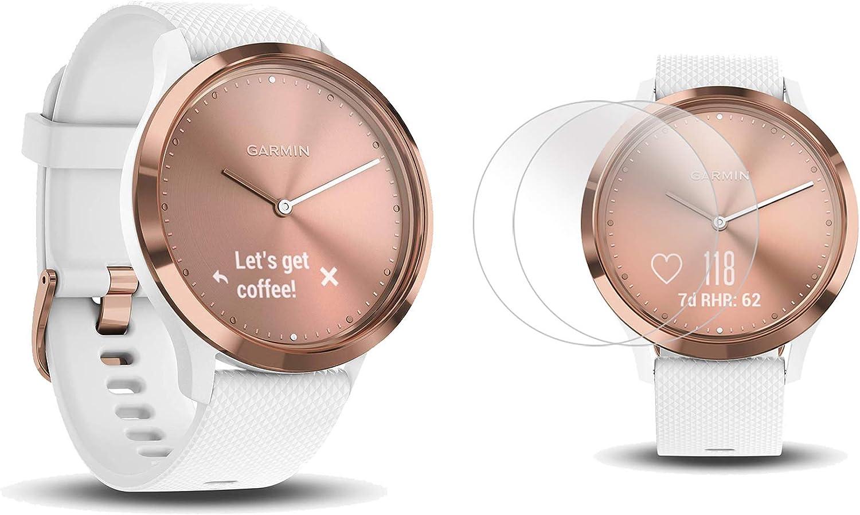 PlayBetter Garmin vivomove HR Sport (Rose Gold - Small/Medium) Hybrid Smartwatch Screen Protectors (x4) | Activity, Sleep & Stress Tracking, On-Wrist ...