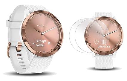Garmin vivomove HR Sport (Rose Gold - Small/Medium) Hybrid Smartwatch |  with PlayBetter Screen Protectors (x4) | Activity, Sleep & Stress Tracking,