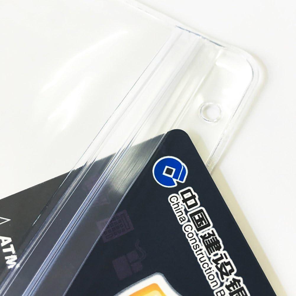 QUTAWAYLA 31 Sets Badge Id Tarjetero con correa larga para el cuello impermeable PVC Name Key Card Tarjetero cremallera resellable, ganchos giratorios, cuerdas
