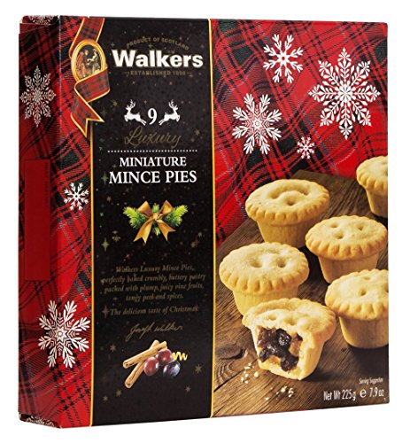 Walkers Shortbread, Mini Mince Pies, 7.9-Ounce Boxes (Pack of - Pie Christmas Filling