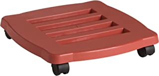 product image for Fiskars 95125C 15-Inch Square Planter Caddy, terracotta color