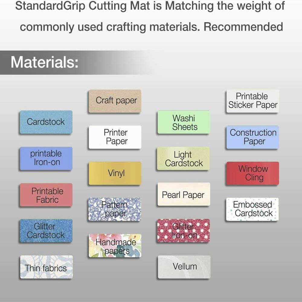 Scrapbooking CESTLAVIE Gridded Cutting Mat with Durable Adhesive Non-Slip PVC Perfect for Quilting Sewing and All Arts 4Packs Standard Grip Cutting Mat for Silhouette Cameo