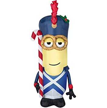 gemmy vive le minion soldier lighted christmas airblown inflatable 35 feet tall - Minion Christmas