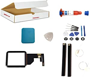 Screen Repair Kit Compatible for Apple Watch Series 1 Model A1758 A1554 A1803 - Front Glass Lens with Touch Digitizer Flex Cable Replacement (42mm)