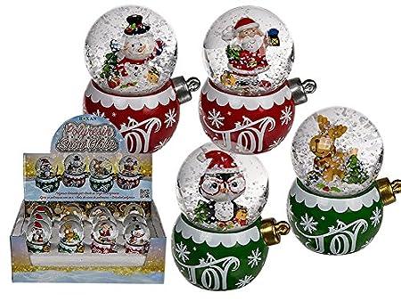 Schneekugel Weihnachtsfigur Schneemann Weihnachtsmann Rentier aus Polyresin