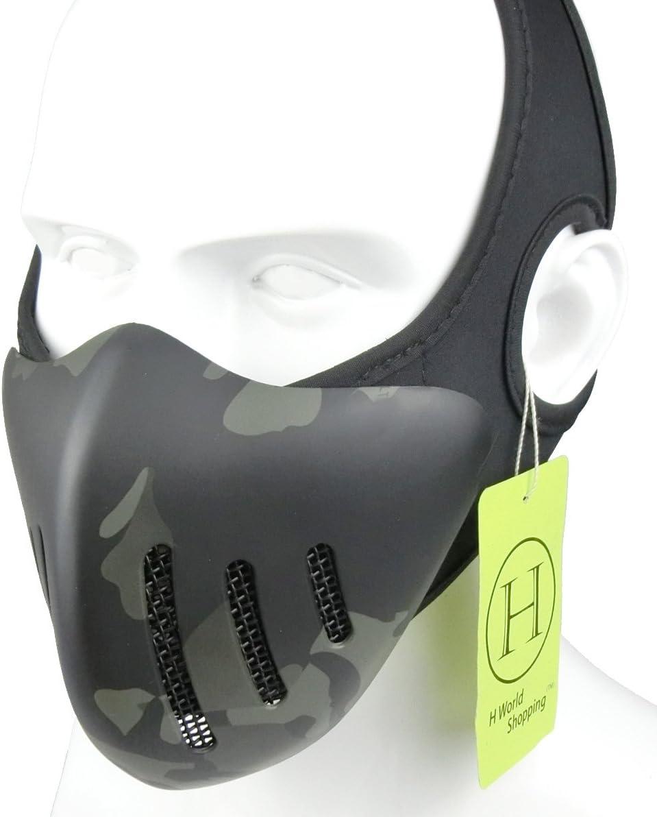 H World EU Airsoft Tactical Half Face Malla metálica Máscara Protectora Transpirable