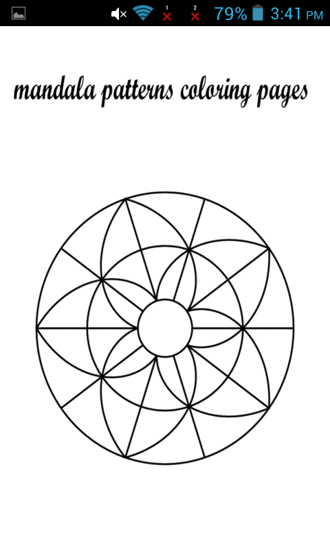 mandala patterns coloring pages appstore for android. Black Bedroom Furniture Sets. Home Design Ideas