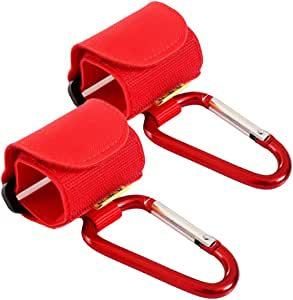 MagiDeal 2X Baby Stroller Hooks Shopping Bag Clip Carrier Pushchair Hanger - Red, as described