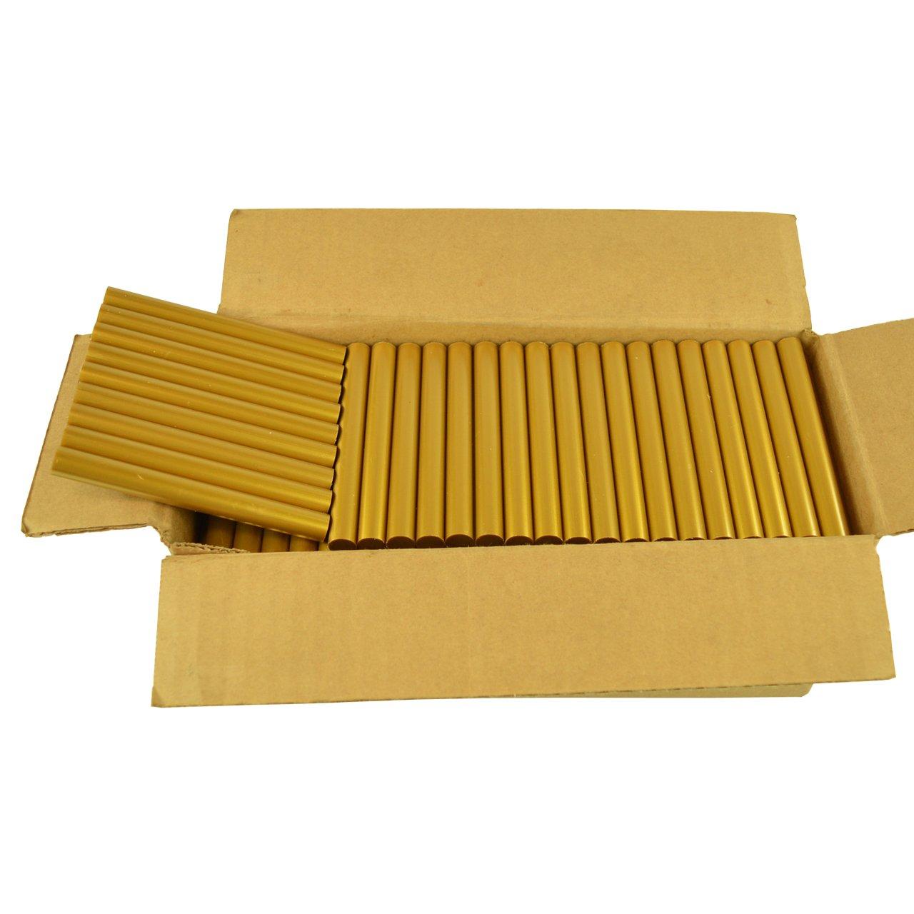 GlueSticksDirect Gold Metallic Faux Wax Glue Sticks 7/16'' X 4'' 5 lbs