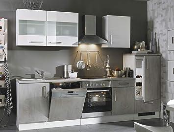 Expendio Küchenblock Maika 280 Cm Mit E Geräten Komplett Betonoptik