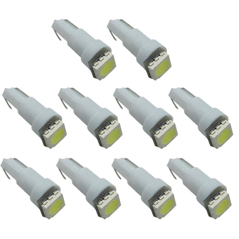 Connoworld Clearance Sale 10pcs T5 5050 1SMD LED Super Bright Bulbs Car Dashboard Gauge Light Lamp by Connoworld (Image #1)