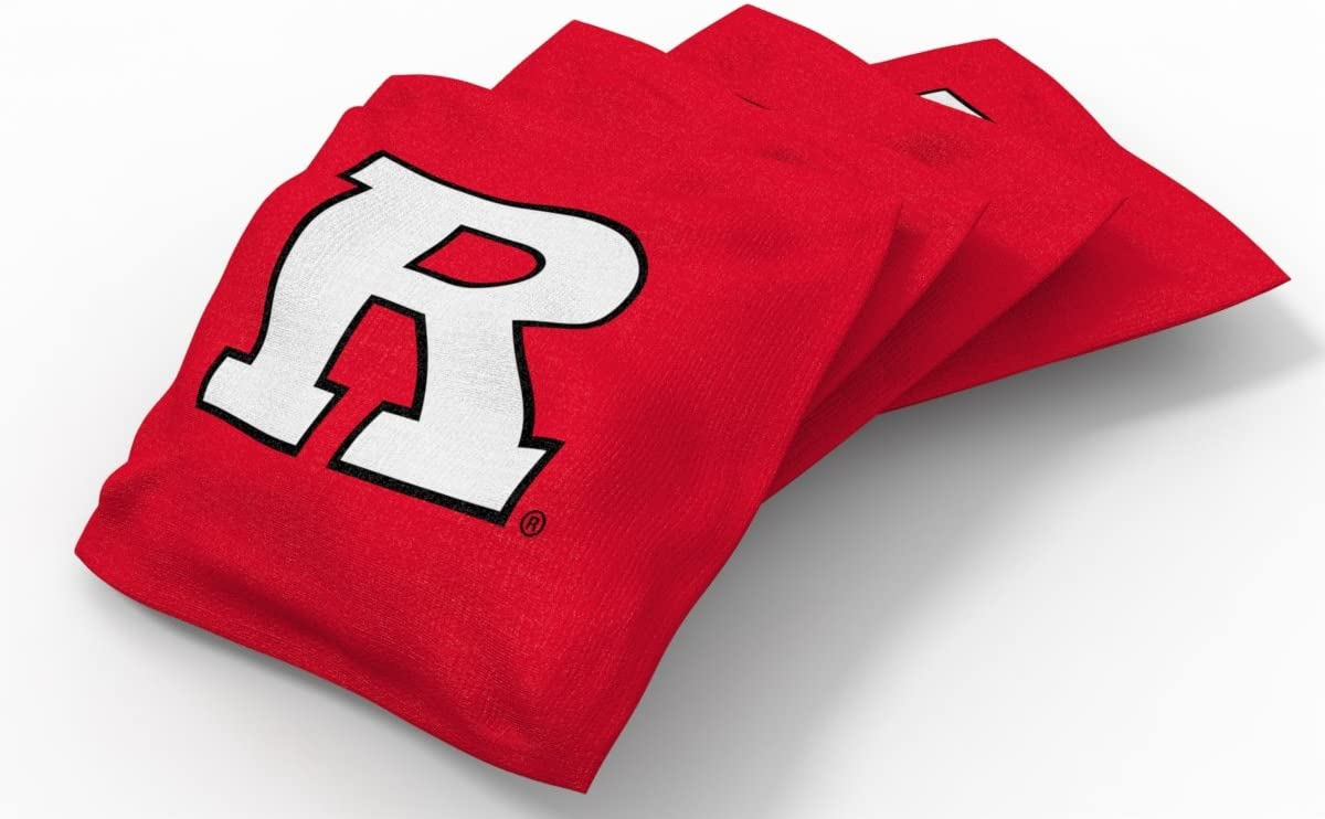 4 Pack Wild Sports NCAA College Rutgers Scarlet Knights Red Authentic Cornhole Bean Bag Set
