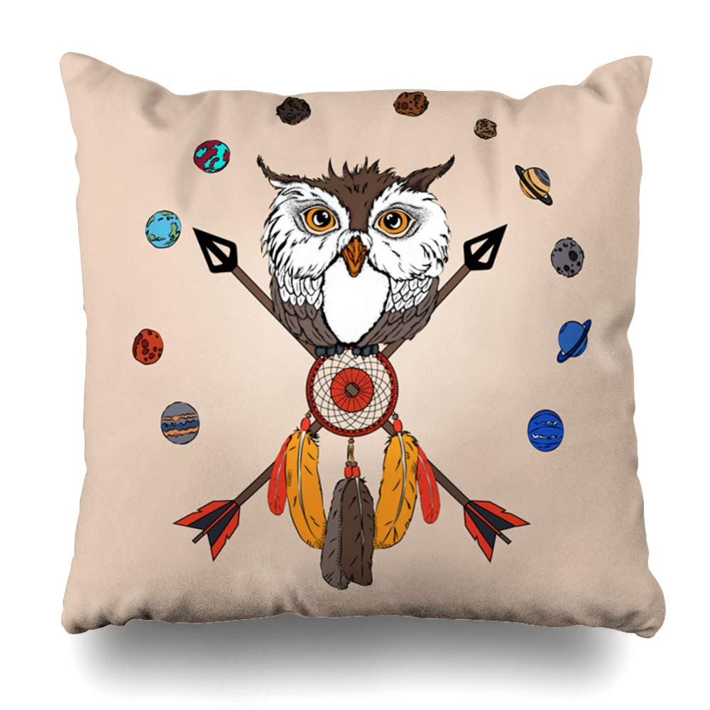 Brilliant Amazon Com Ahawoso Throw Pillow Cover Owl Aztec Sits On Pabps2019 Chair Design Images Pabps2019Com