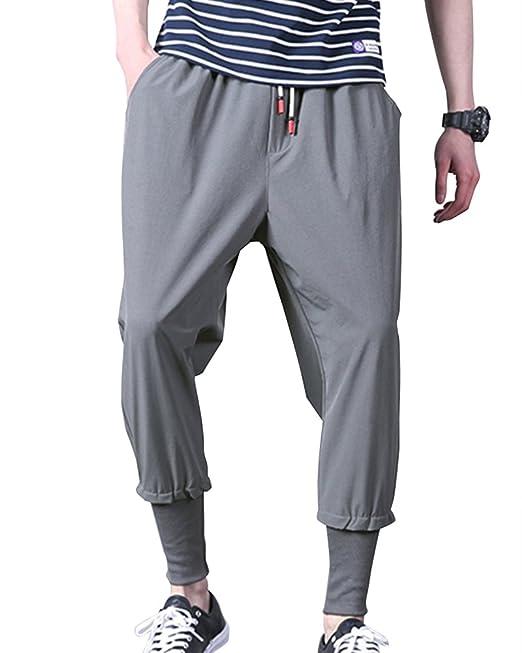 ShiFan Pantalon Harem Hombre Multibolsillos De Deporte Con Anchura Regulable De La Cintura 3dQNjhPxz