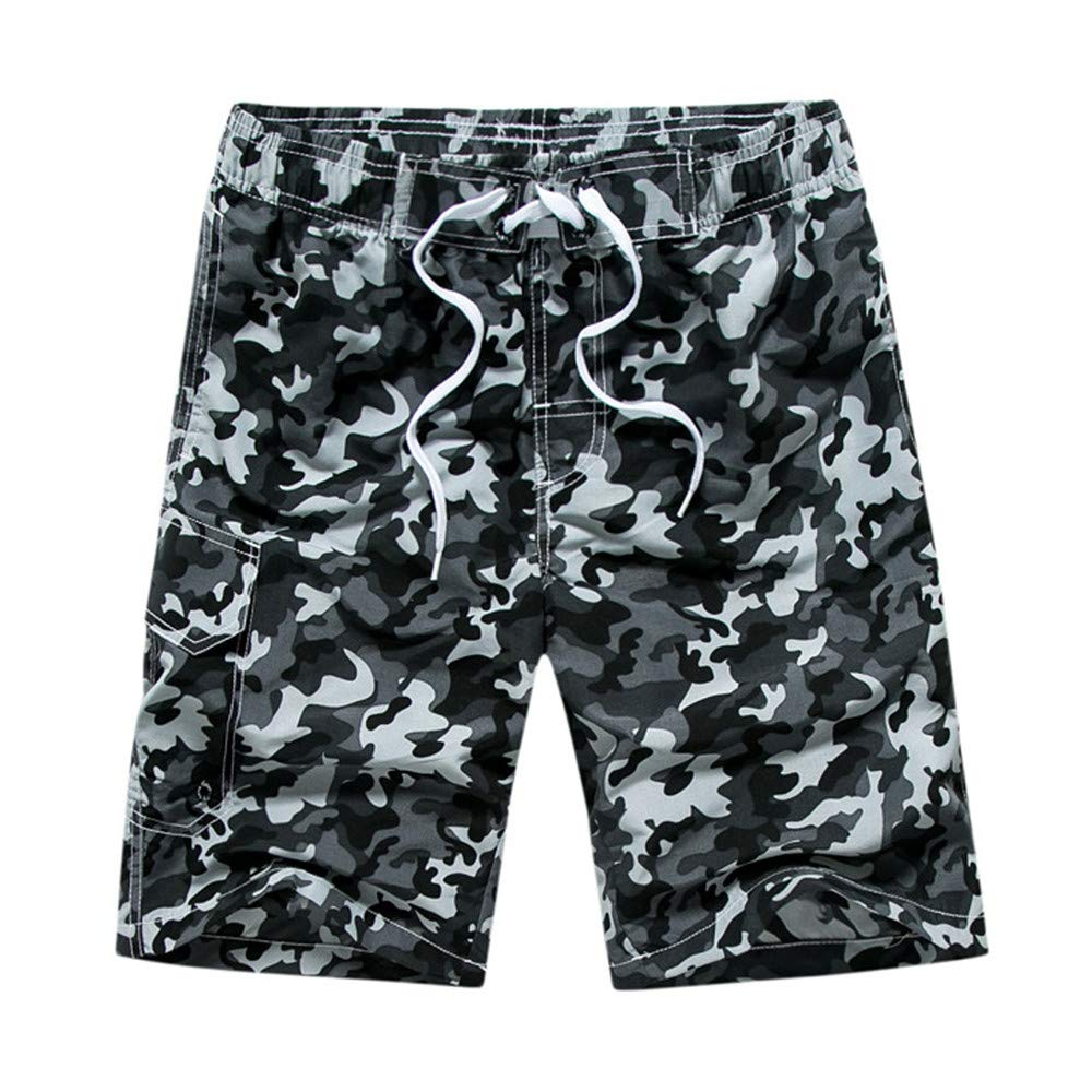 TANLANG Men's High Performance Camouflage Pants Casual Cotton Multi-Pocket Camouflage Shorts Outdoor Clothing
