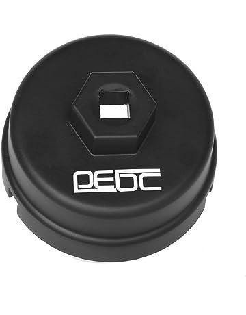 DEDC Llave para Filtro de Aceite de Coche 64,5mm 14 Estrías 3/8