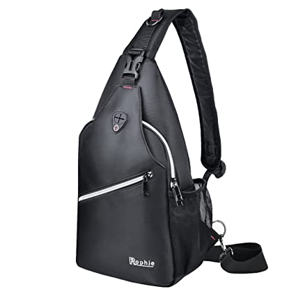 762078153887 Rophie Sling Bag Pack for Bottle and iPad Chest Shoulder Crossbody Hiking  Backpack Outdoor Sport Bicycle Rucksack Camping Travel Casual Daypack for  ...