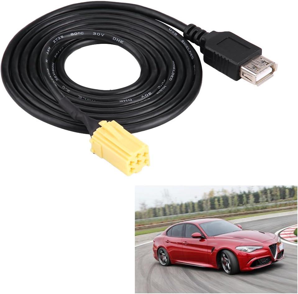Cavo USB Suuonee connettore MINI-ISO 6Pin per auto Cavo adattatore USB per Grande Punto