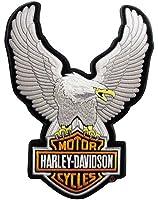 Harley Davidson Upwing Eagle Patch (Silver) Large