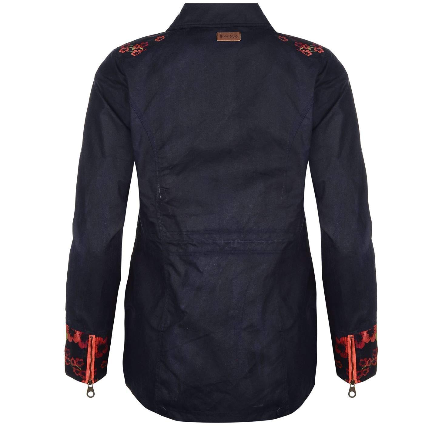 Damen-Reitjacken Jack Murphy Alex Wax Jacket Womens Blue Equestrian Horse Riding Coat Outerwear Reitbekleidung