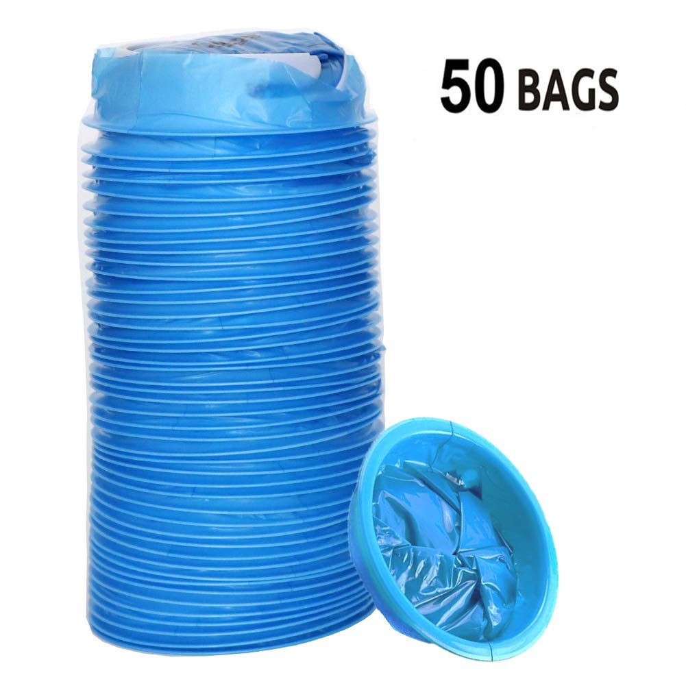 Vomit Bags for Car, 50 Pack Emesis Bags - Travel Motion Sick Throw up Bag/Disposable Blue Barf Bag for Morning Sickness & Hangovers