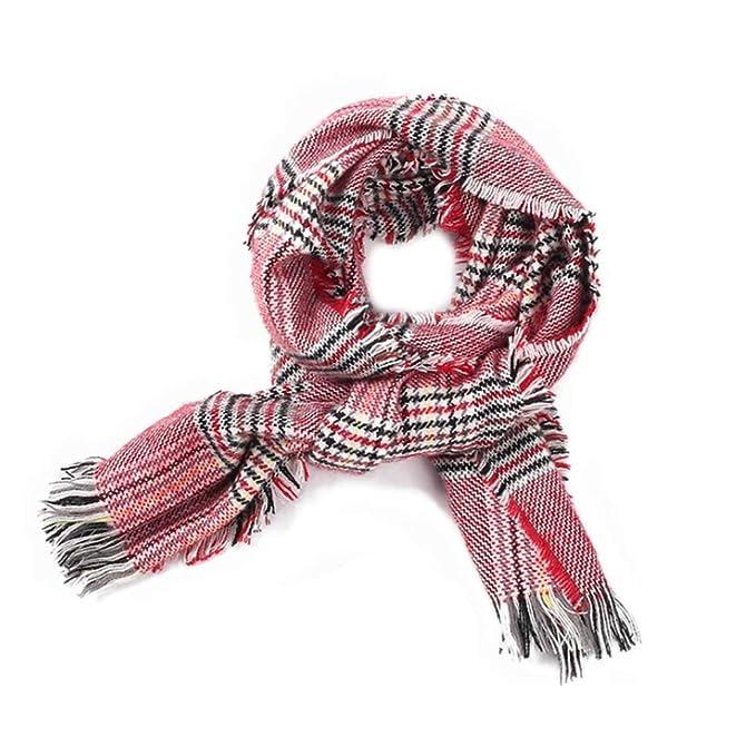 Autumn Scarf Women Shawl Cashmere Autumn Plaid Wool Scarves Blanket