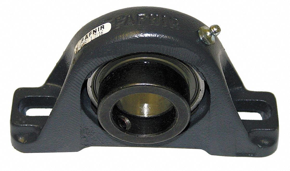 Timken VAS1 3/16 VAS Series bloque de cojinete de bolas de hierro fundido con 2 pernos, sellos de contacto, cuello eccéntrico, tipo sin expansión, diámetro de orificio de 30.163 mm
