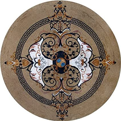 product detail waterjet carpet medallion flooring entrance stone decoration inlay floor marble