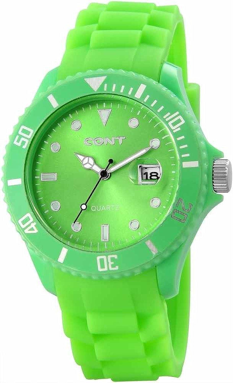 CONT 3458600004 RP3458600004 - Reloj analógico de Cuarzo para Hombre, Correa de Silicona Color Verde